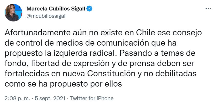 Afortunadamente aún no existe en Chile ese consejo de control de medios de comunicación que ha propuesto la izquierda radical.
